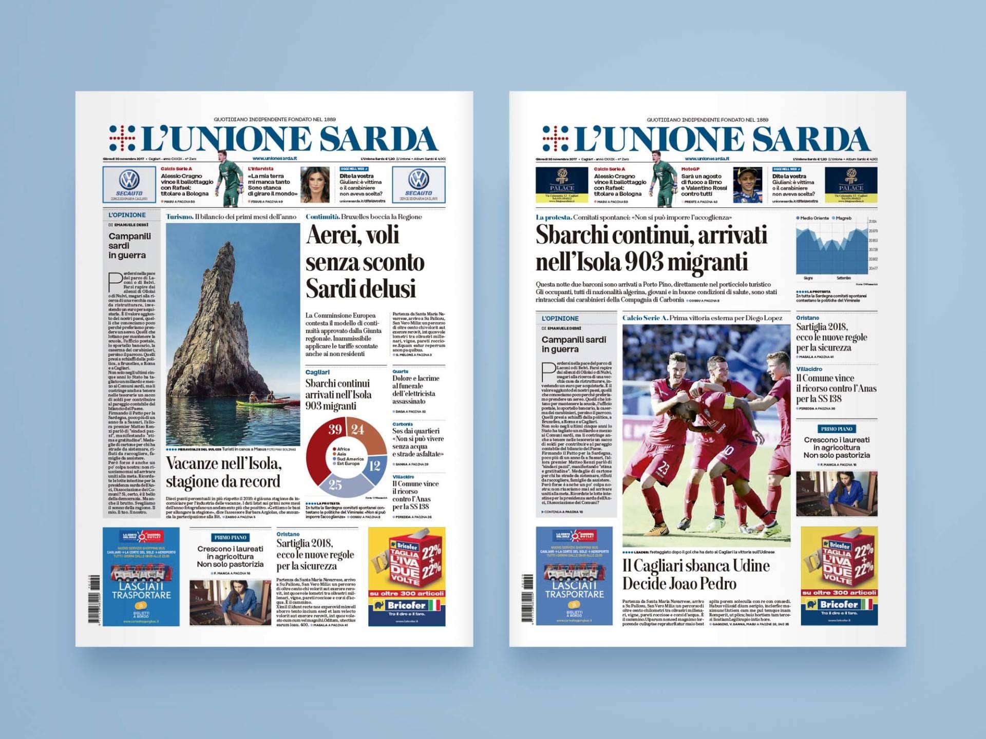 L'Unione_Sarda_09_Wenceslau_News_Design