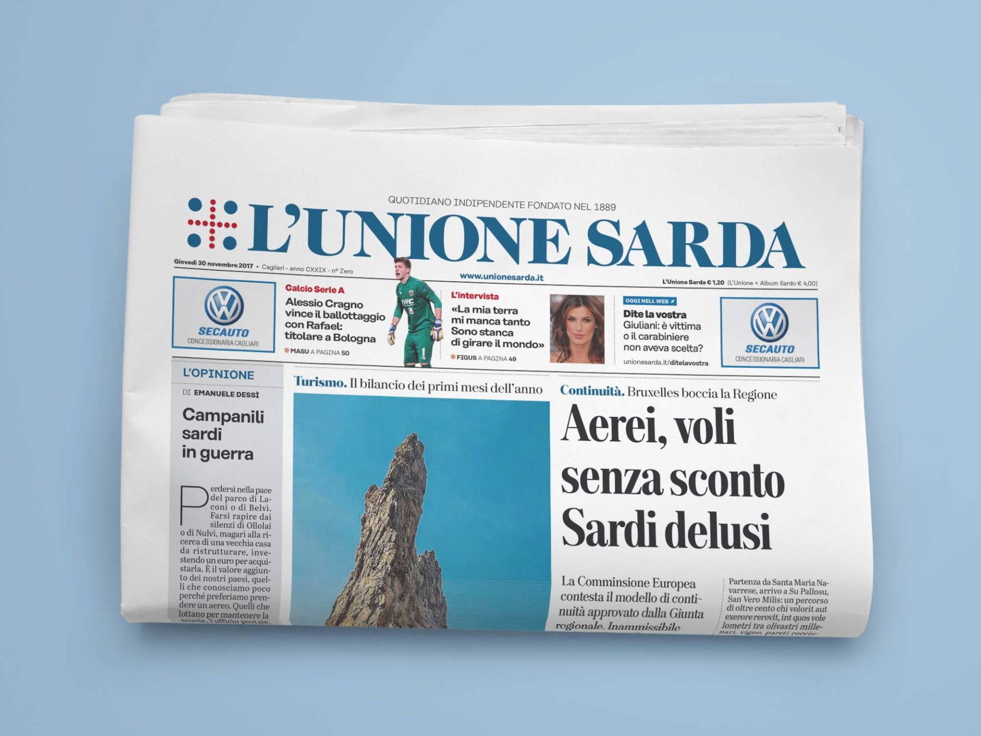 L'Unione_Sarda_01_Wenceslau_News_Design